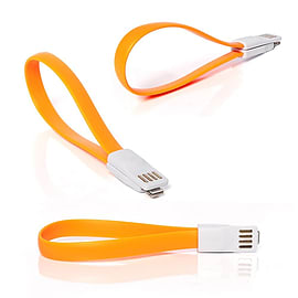 Frostycow Flat Magnetic Charging USB Cable For iPhone 5/5C/5S Orange Mobile phones