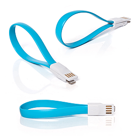 Frostycow Flat Magnetic Charging USB Cable For iPhone 5/5C/5S Blue Mobile phones