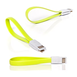 Frostycow Flat Magnetic Charging USB Cable For Samsung S3/S4/S5 Green Mobile phones