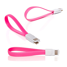 Frostycow Flat Magnetic Charging USB Cable For Samsung S3/S4/S5 Pink Mobile phones
