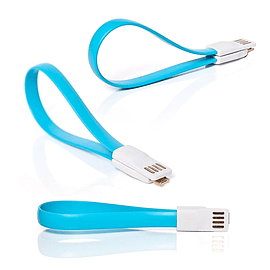 Frostycow Flat Magnetic Charging USB Cable For Samsung S3/S4/S5 Blue Mobile phones