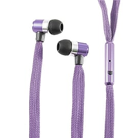 Frostycow Stereo 3.5mm Shoelace In Ear Noise Reducing Headphones For Tablet MP3 Smart Phone Purple Mobile phones