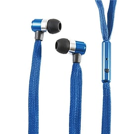 Frostycow Stereo 3.5mm Shoelace In Ear Noise Reducing Headphones For Tablet MP3 Smart Phone Blue Mobile phones