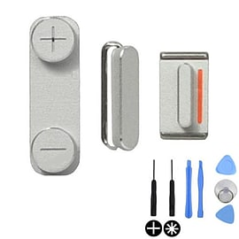 Frostycow Replacement Apple iPhone 5 Original Replacement Buttons Set - Volume & Power Silver Mobile phones
