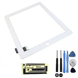 Frostycow Replacement LCD Touch Screen Digitizer For Apple iPad 2 Wifi & Cellular White Tablet