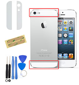Frostycow Replacement Home Menu Button Flex Ribbon Cable for iPhone 4 + Tool Kit White Mobile phones