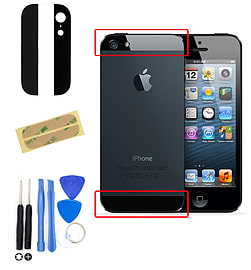 Frostycow Replacement Home Menu Button Flex Ribbon Cable for iPhone 4S + Tool Kit Black Mobile phones