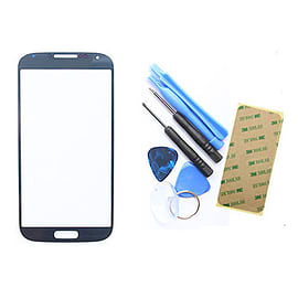 Frostycow Genuine Glass Front Cover Screen Replacement for Samsung Galaxy SIV S4 i9500 Black Mobile phones