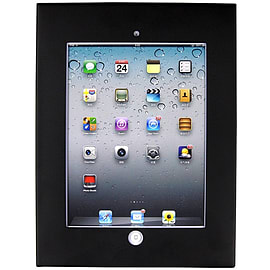 Frostycow Brateck Anti Theft Steel Case for iPad 2/3/4 Black Tablet