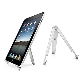 Frostycow Portable Folding Aluminium Metal Desk Stand Holder for iPad 2, 3, 4 & New Mini Tablet
