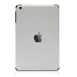 Frostycow Carbon Fibre Back Vinyl Wrap Sticker Skin for Apple iPad Air 5 2013 Silver Tablet