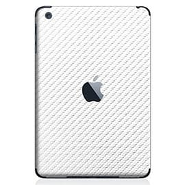 Frostycow Carbon Fibre Back Vinyl Wrap Sticker Skin for Apple iPad Mini White Tablet