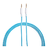 Frostycow 3.5mm to 3.5mm Strong Braided Coloured Jack Lead IPod Gold Aux Input Wire Cable Blue screen shot 1