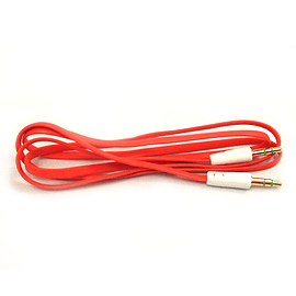 Frostycow 3.5mm to 3.5mm Coloured Noodle Jack Lead IPod Gold Aux Input Wire Cable Red Audio