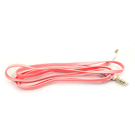 Frostycow 3.5mm to 3.5mm Coloured Noodle Jack Lead IPod Gold Aux Input Wire Cable Pink Audio