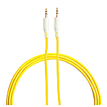 Frostycow 3.5mm to 3.5mm Strong Braided Coloured Jack Lead IPod Gold Aux Input Wire Cable Yellow screen shot 1