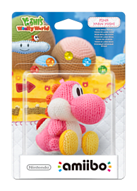 Yarn Yoshi Pink - amiibo - Yoshi's Woolly World Collection Amiibo