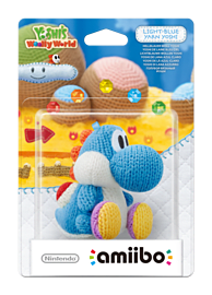 Yarn Yoshi Light Blue - amiibo - Yoshi's Woolly World Collection Amiibo
