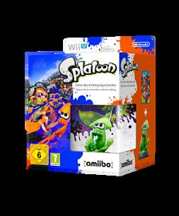 Splatoon with Inkling Squid amiibo Wii U