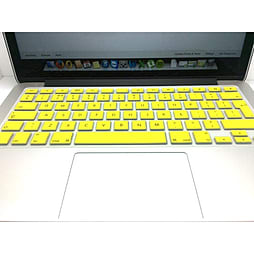 Frostycow UK Waterproof Silicone Keyboard Cover Protector for Apple Macbook Pro & Retina Yellow PC