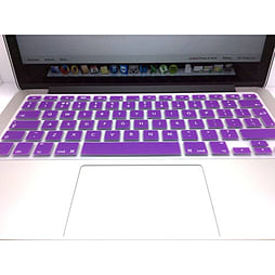 Frostycow UK Waterproof Silicone Keyboard Cover Protector for Apple Macbook Pro & Retina Purple PC