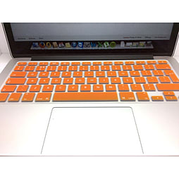 Frostycow UK Waterproof Silicone Keyboard Cover Protector for Apple Macbook Pro & Retina Orange PC