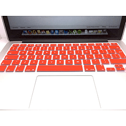 Frostycow UK Waterproof Silicone Keyboard Cover Protector for Apple Macbook Pro & Retina Red PC