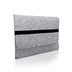 ORDEL® Felt Laptop Sleeve Case Cover For Apple For Macbook Pro, Retina & Air 13 Light Grey PC