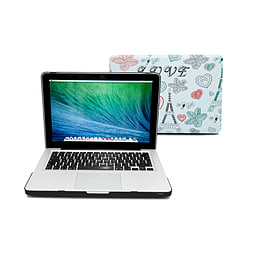 Frostycow Ultra Slim 'Love' Patterned Cover Case For Apple Macbook Pro 13 PC