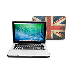 Frostycow Ultra Slim Union Jack Patterned Cover Case For Apple Macbook Pro 13 PC