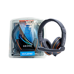 Frostycow X10 Computer PC Laptop Gaming Headset with Microphone Orange PC