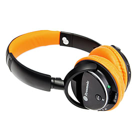 Dynamode Bluetooth Headphones With Handsfree, FM Radio & Micro SD Universal Bluetooth Orange Audio