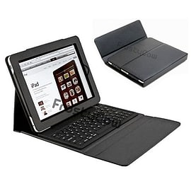 Frostycow Black PU Leather Bluetooth Keyboard Flip Case Stand for Apple iPad 2 3 & 4 Retina Tablet