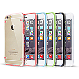 Frostycow Clear Hard Back Silicone TPU Bumper Cover Case For New Apple iPhone 6 Green screen shot 1