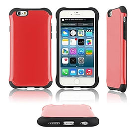 Frostycow Slim Tough Hard Armour Anti Shock Cover Case For New Apple iPhone 6 Red Mobile phones