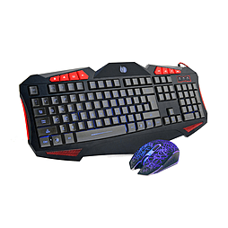 Frostycow High Precision USB Wired Backlit Gaming Keyboard and Mouse Pack Set PC
