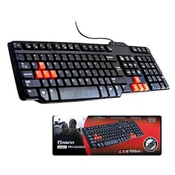 Frostycow USB Waterproof Multimedia Gaming Keyboard - Red & Black PC