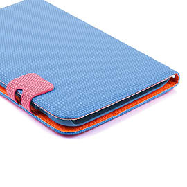 Frostycow Multi Colour Wallet Flip Case For Samsung Tab 2 7 P3100 Blue and Pink Tablet