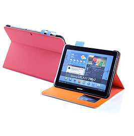 Frostycow Multi Colour Wallet Flip Case For Samsung Tab 2 10.1 P5100 Pink and Blue Tablet