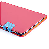 Frostycow Multi Colour Wallet Flip Case For Samsung Tab 2 10.1 P5100 Pink and Blue screen shot 1