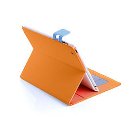 Frostycow Multi Colour Wallet Flip Case For Apple iPad 2 3 4 Orange and Blue Tablet