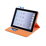 Frostycow Multi Colour Wallet Flip Case For Apple iPad 2 3 4 Orange and Blue screen shot 1