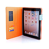 Frostycow Multi Colour Wallet Flip Case For Apple iPad 2 3 4 Orange and Blue screen shot 3