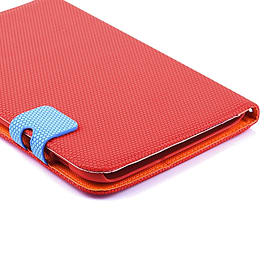 Frostycow Multi Colour Wallet Flip Case For Samsung Tab 2 7 P3100 Red and Blue Tablet