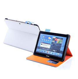 Frostycow Multi Colour Wallet Flip Case For Samsung Tab 2 10.1 P5100 White and Blue Tablet