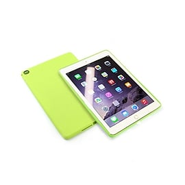 Frostycow Slim Gel Silicone Back Case Cover For Apple iPad 6 Air 2 & Screen Protector Green Tablet