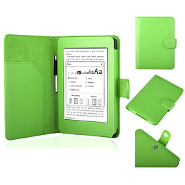 Frostycow Ultra Slim PU Leather Case for New Amazon Kindle Paperwhite 5 Wifi Green Tablet