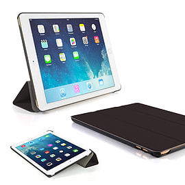 Frostycow Ultra Slim Magnetic Smart Case Cover For Apple iPad 6 Air 2 & Screen Protector Black Tablet