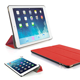 Frostycow Ultra Slim Magnetic Smart Case Cover For Apple iPad 6 Air 2 & Screen Protector Red Tablet