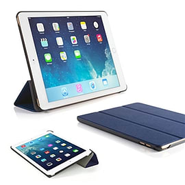 Frostycow Ultra Slim Magnetic Smart Case Cover For Apple iPad 6 Air 2 & Screen Protector Blue Tablet
